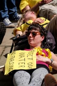 Anti-Fracking demonstration, Preston