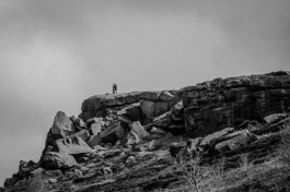 The Cow and Calf above Ilkley