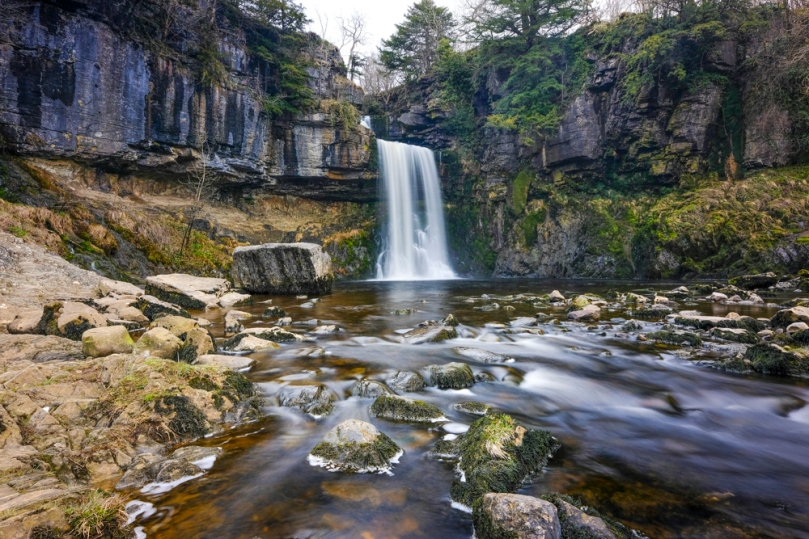 Thornton Force, the largest of the waterfalls on the Ingleton Waterfalls Trail
