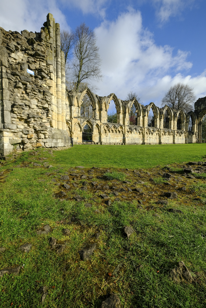 St Mary's Abbey Walls stand in the York Museum Gardens