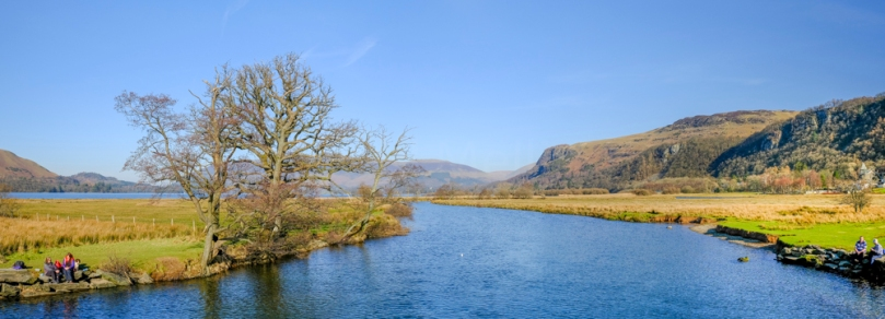 The River Derwent close to Keswick in the Lake District.