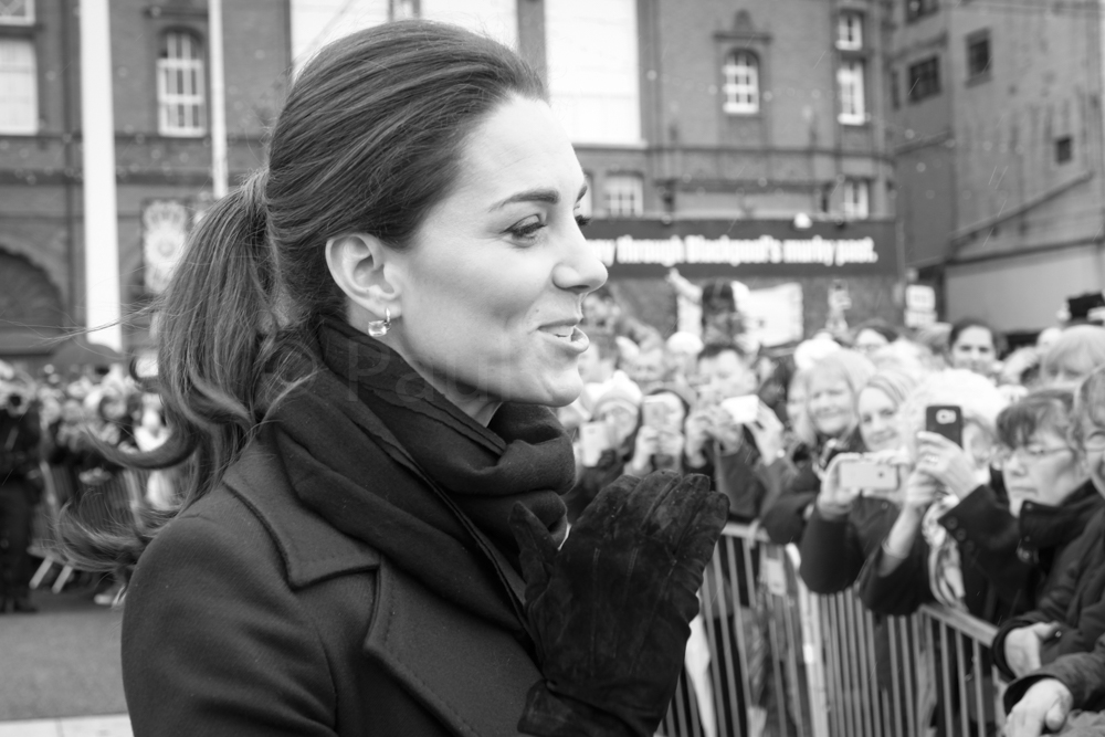 Duchess of Cambridge meeting the public on Blackpool's Comedy
