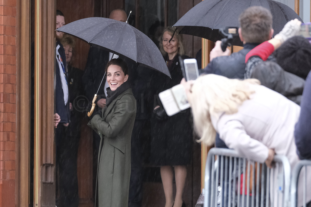 Duke and Duchess of Cambridge arriving at Blackpool Tower
