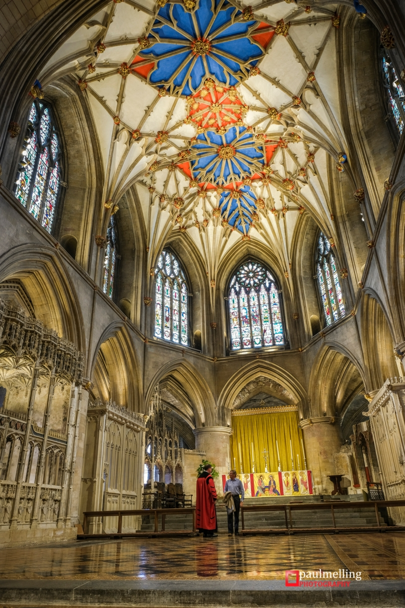Inside Tewkesbury Abbey and the magnificent